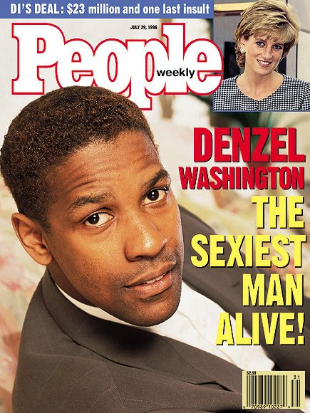 DENZEL WASHINGTON - PEOPLE MAGAZINE'S SEXIEST MAN ALIVE - 1996