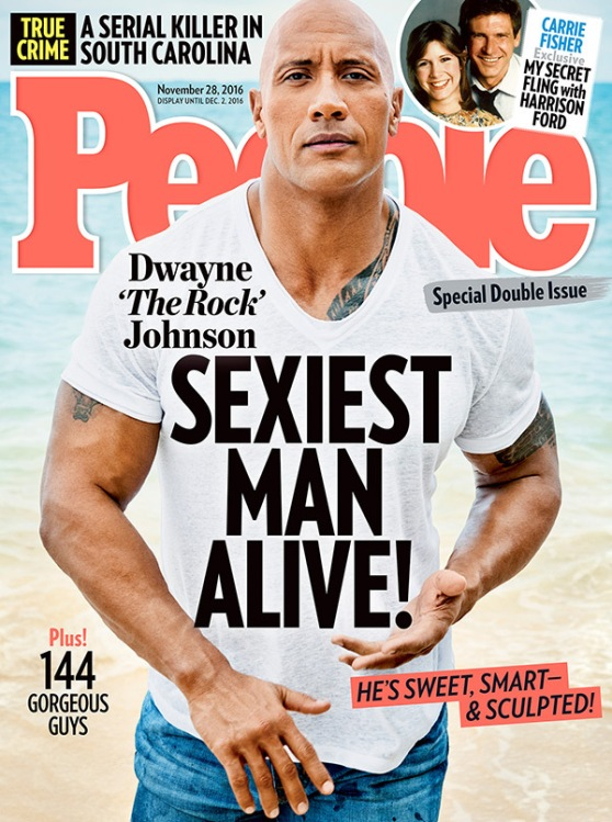 DWAYNE 'THE ROCK' JOHNSON - PEOPLE MAGAZINE'S SEXIEST MAN ALIVE -