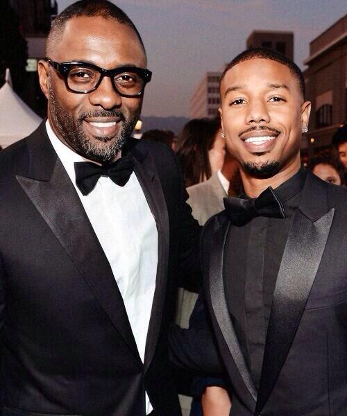 Michael B Jordan and Idris Elba - The Wire